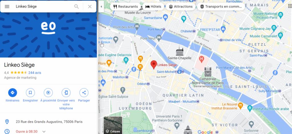 GMB-Linkeo-Siege-Google-Maps